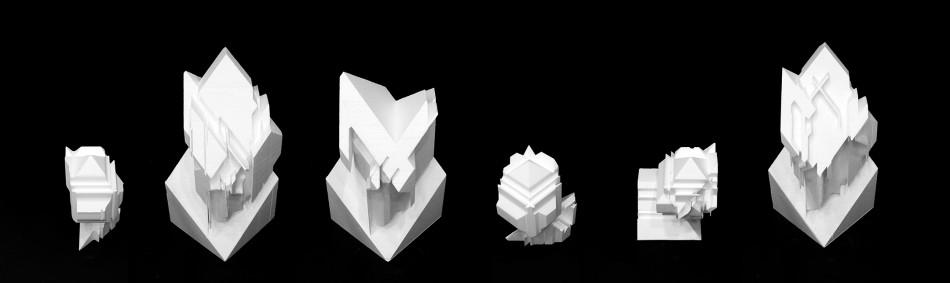 Erin Besler - Low Fidelity, hot-wire foam-cut objects. SCI-Arc, 2012