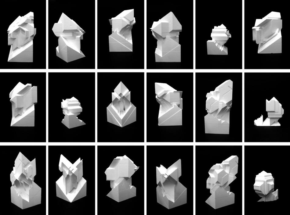 Erin Besler - Low Fidelity, Objects in foam. SCI-Arc, 2012