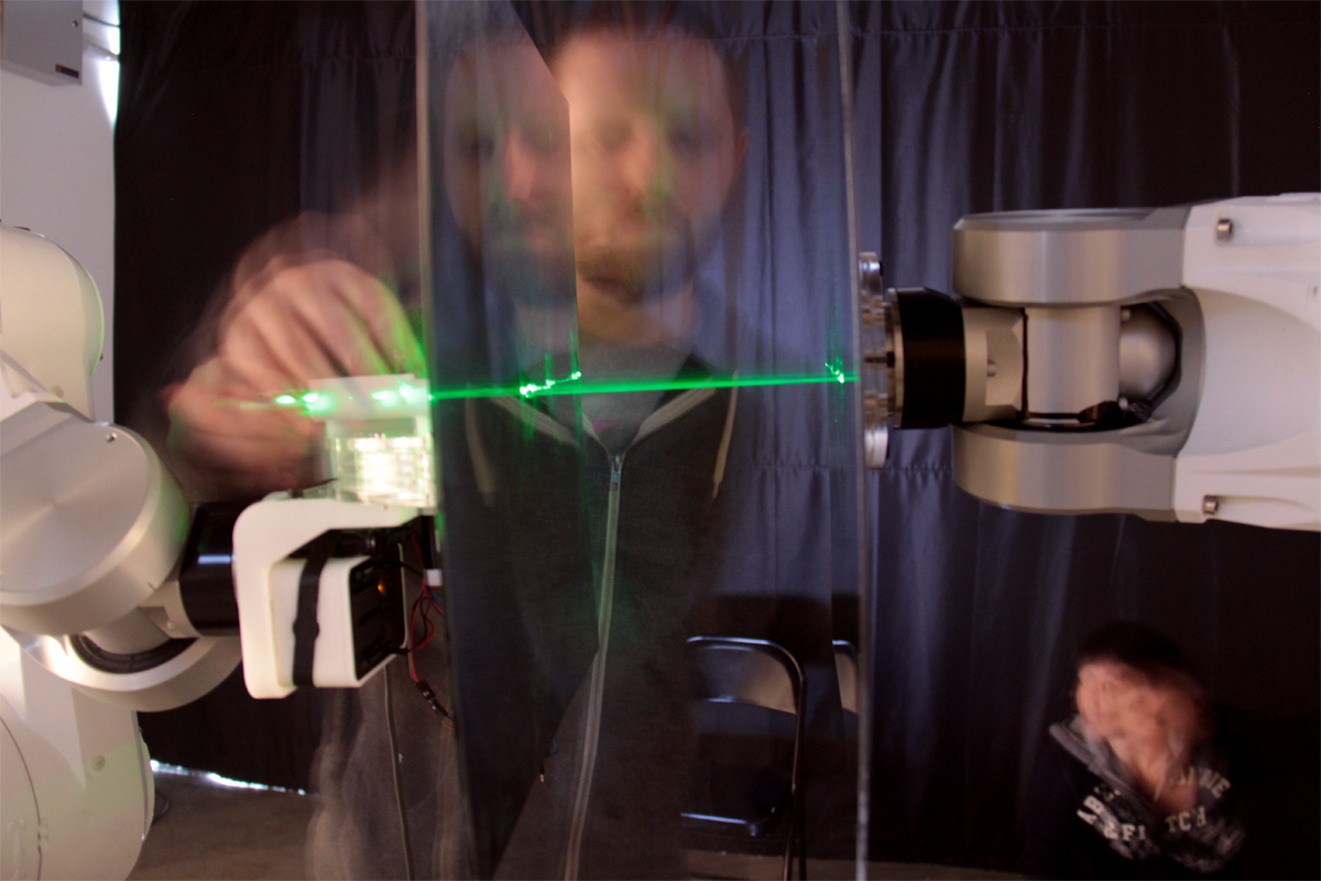 Laser in action