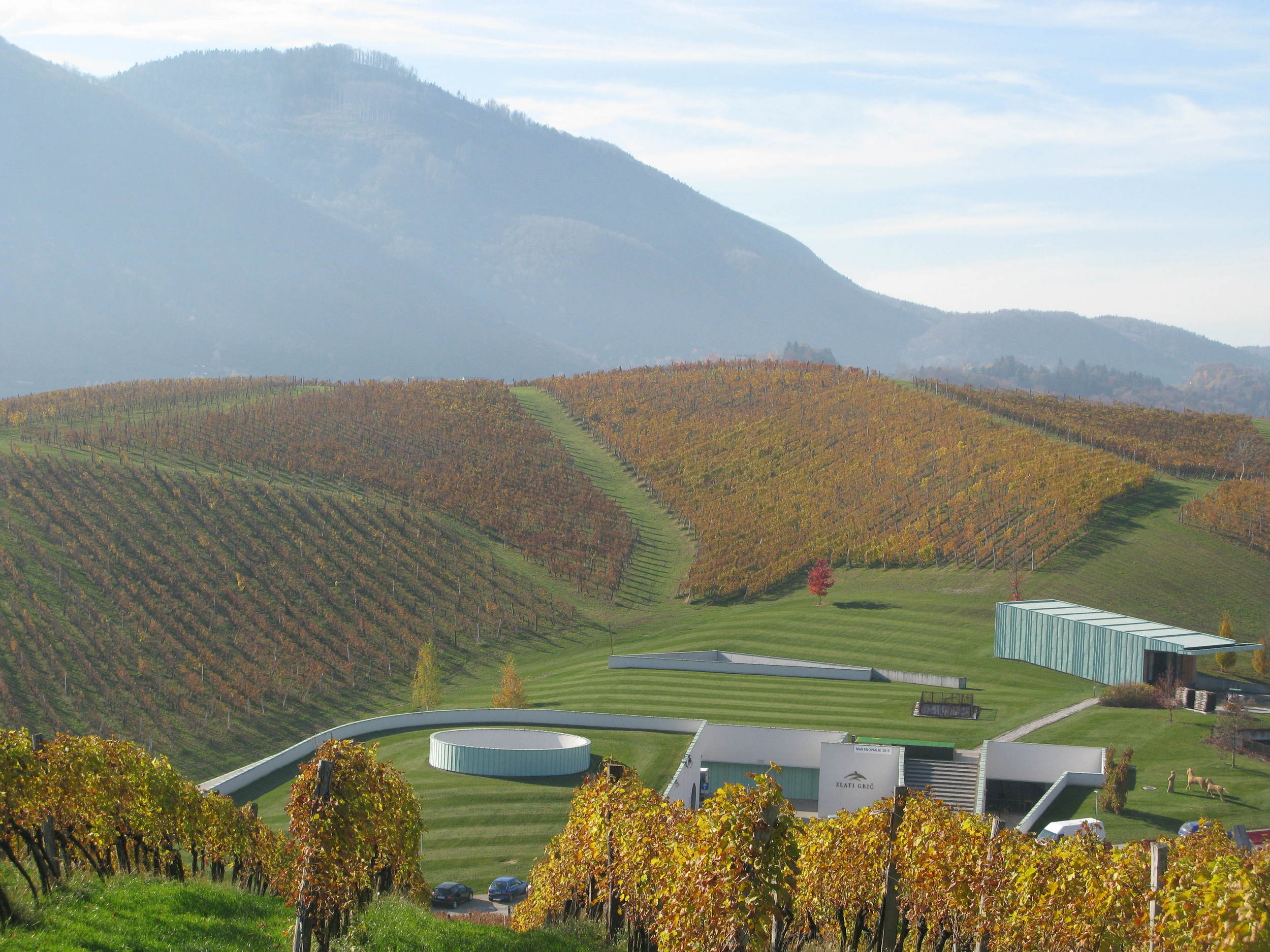 A spectacular setting for a winery... and wine tasting