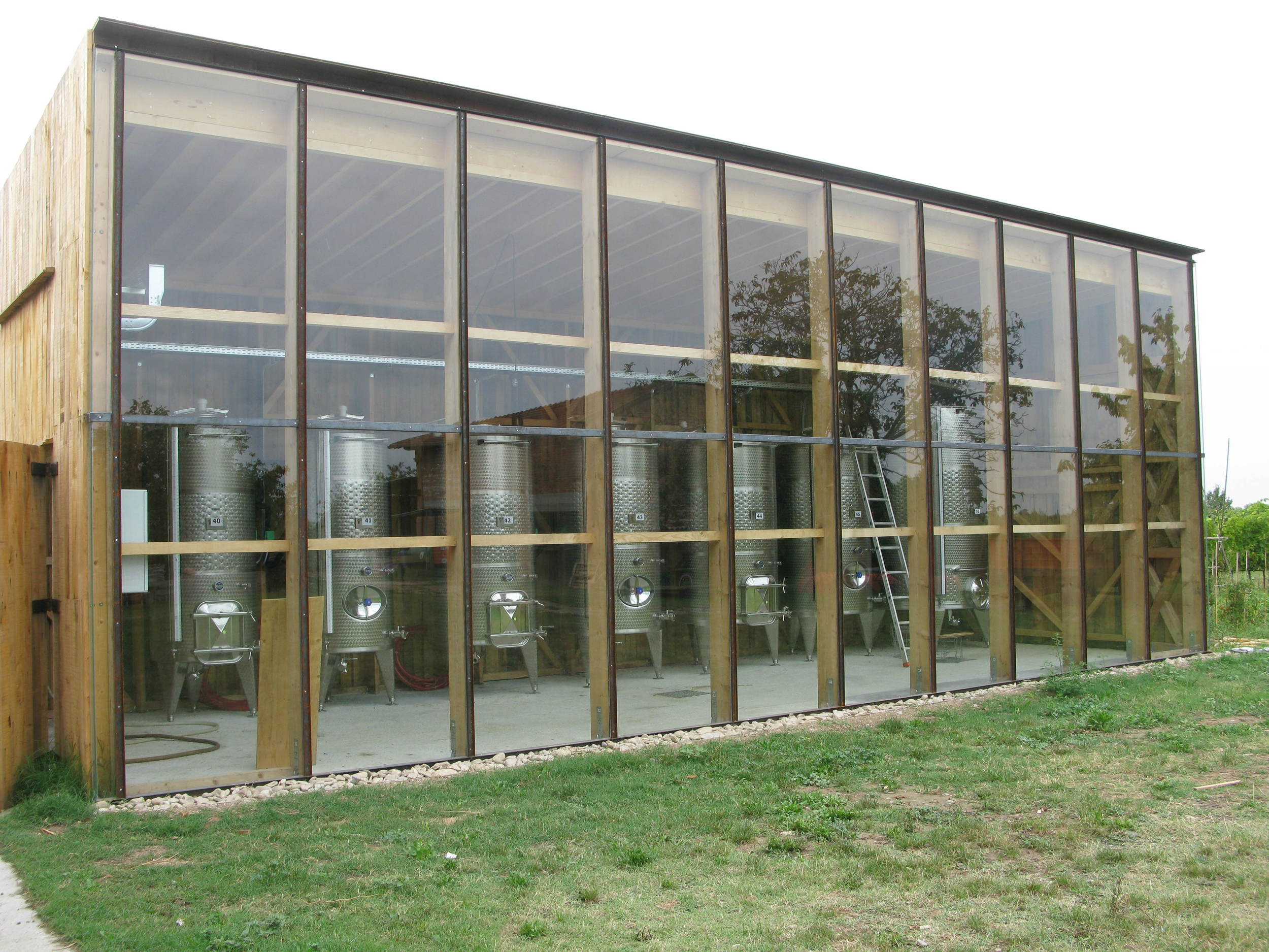 The new solar-powered winery