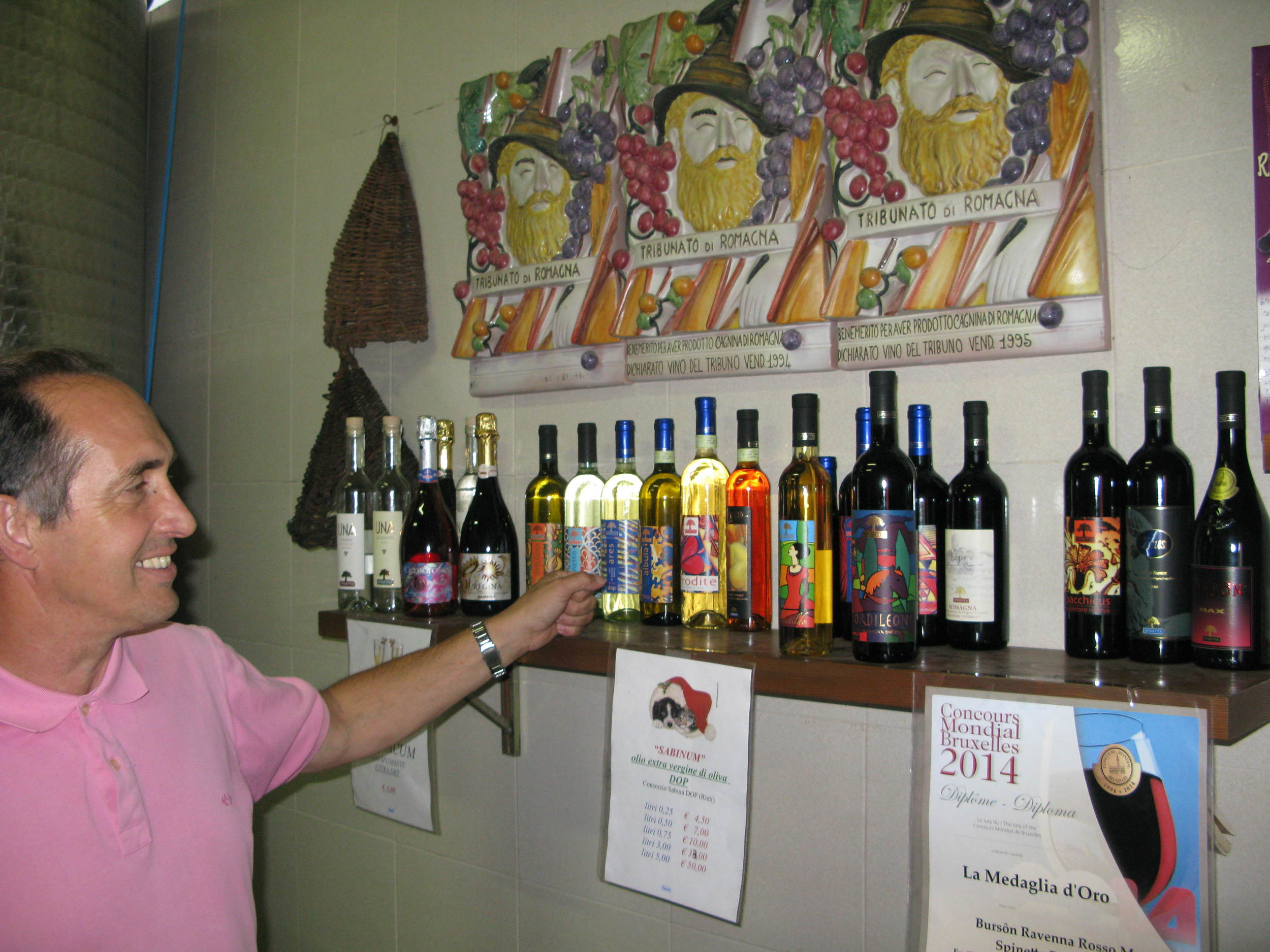 Luciano likes colourful labels