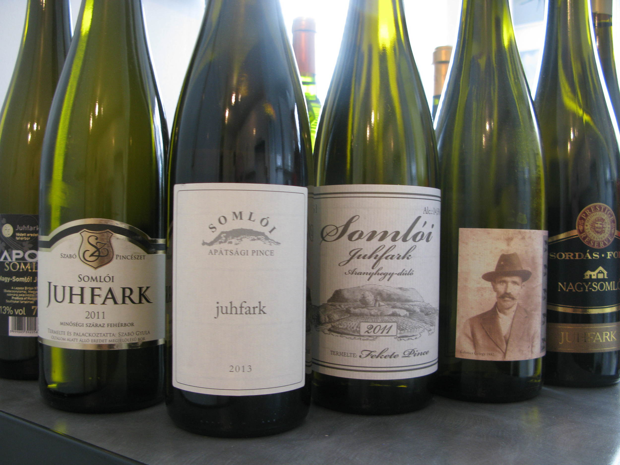 A selection of Juhfarks - THE wedding wine!