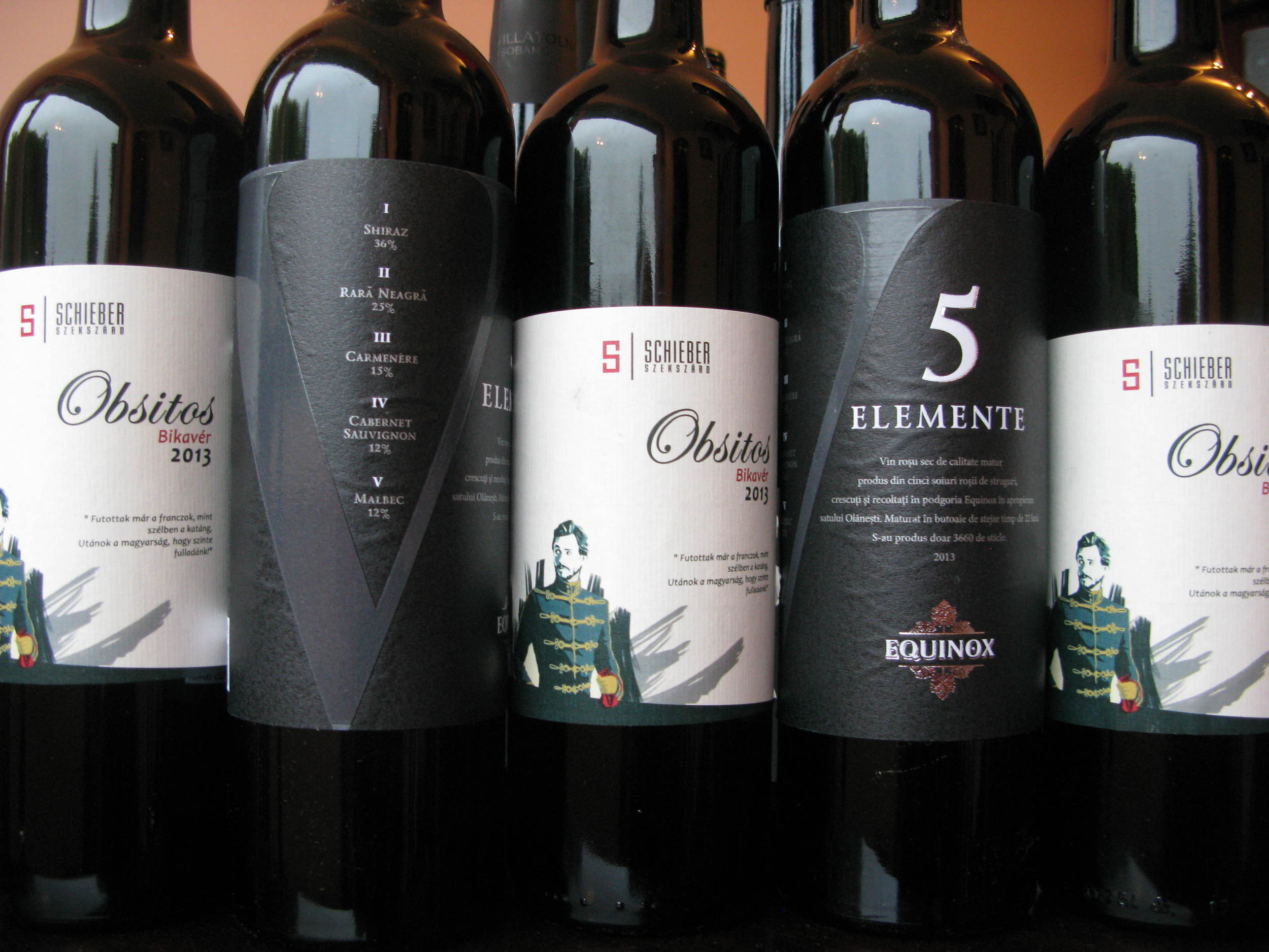 Two interesting red blends: Schieber Obsitos Bikavér 2013 from Hungary and Equinox 5 Elemente 2013 from Moldova