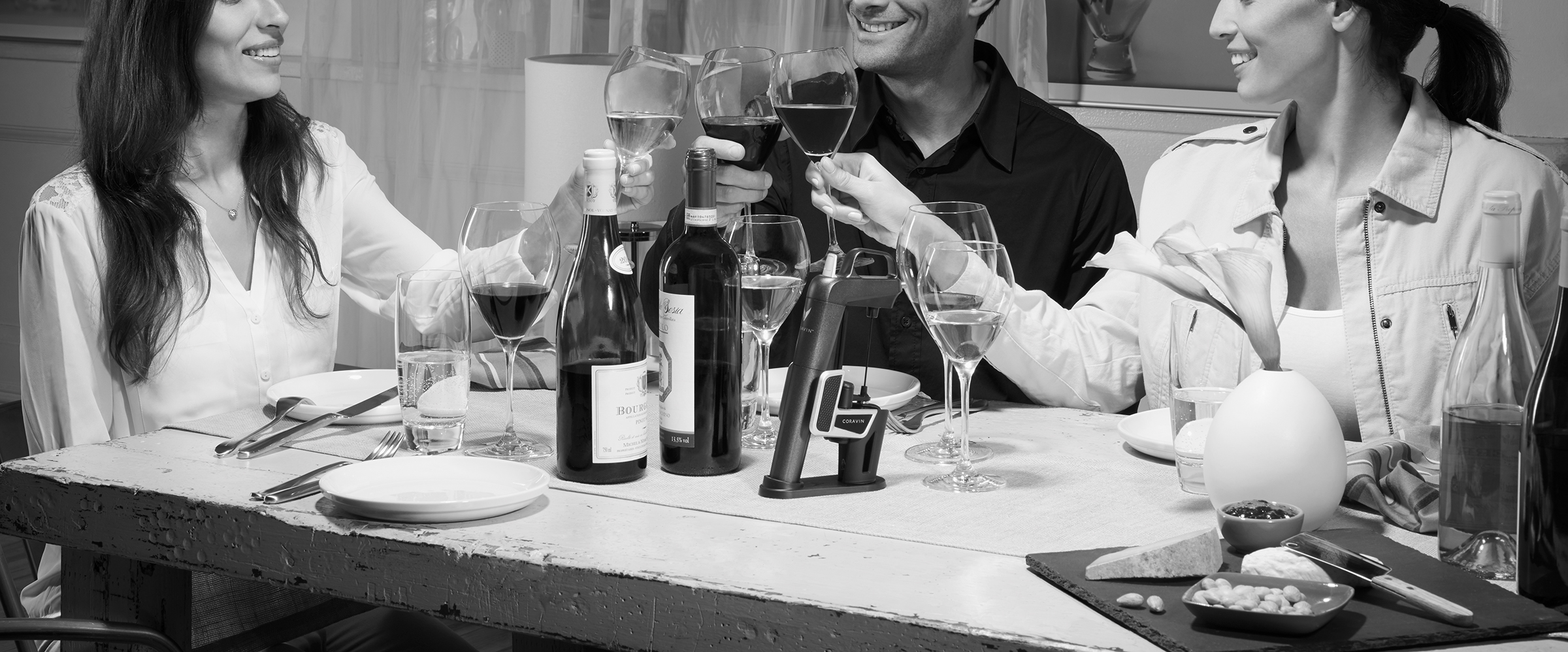 The Coravin system means you can share expensive wines with friends without 'wasting' the whole bottle on them
