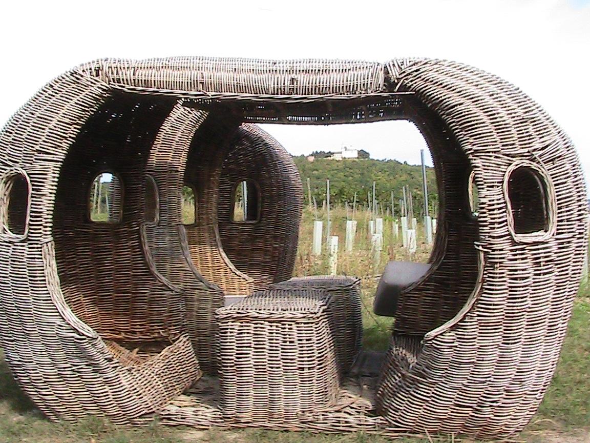 The comfortable wicker suites in Stefan Hajszan's vineyard