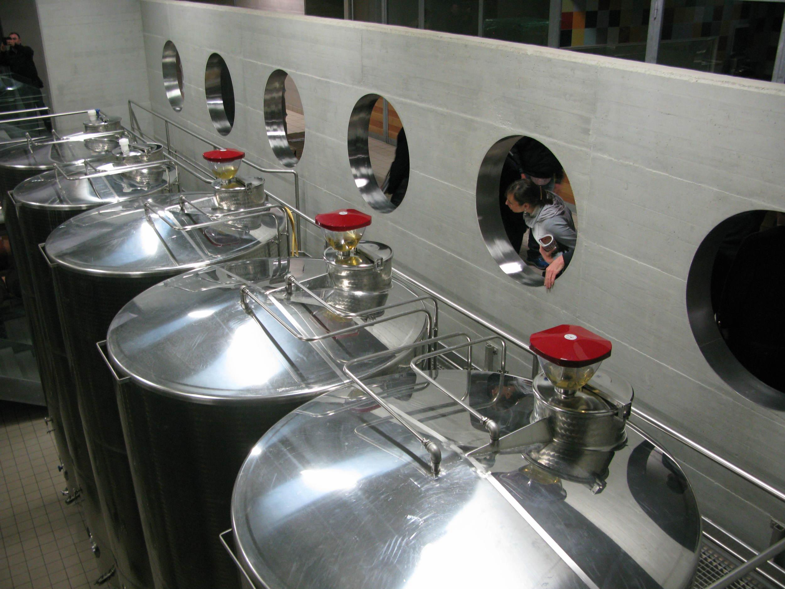 Inside the modern winery