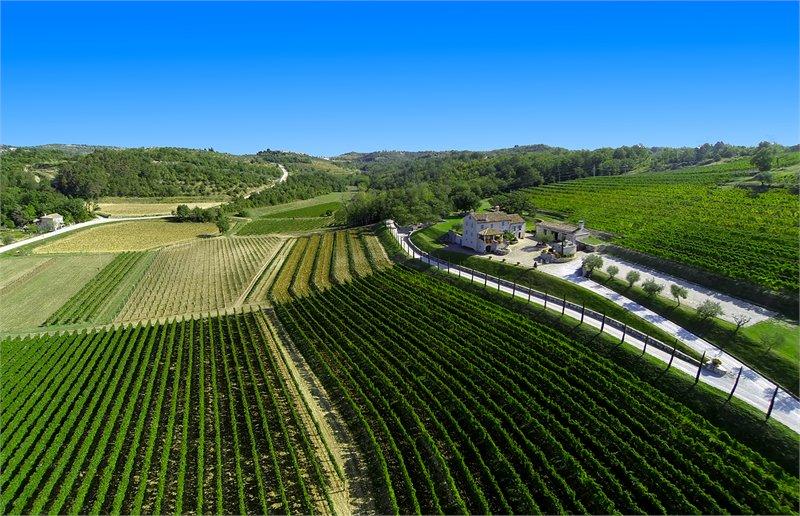 Kabola's Tuscan-like farmhouse