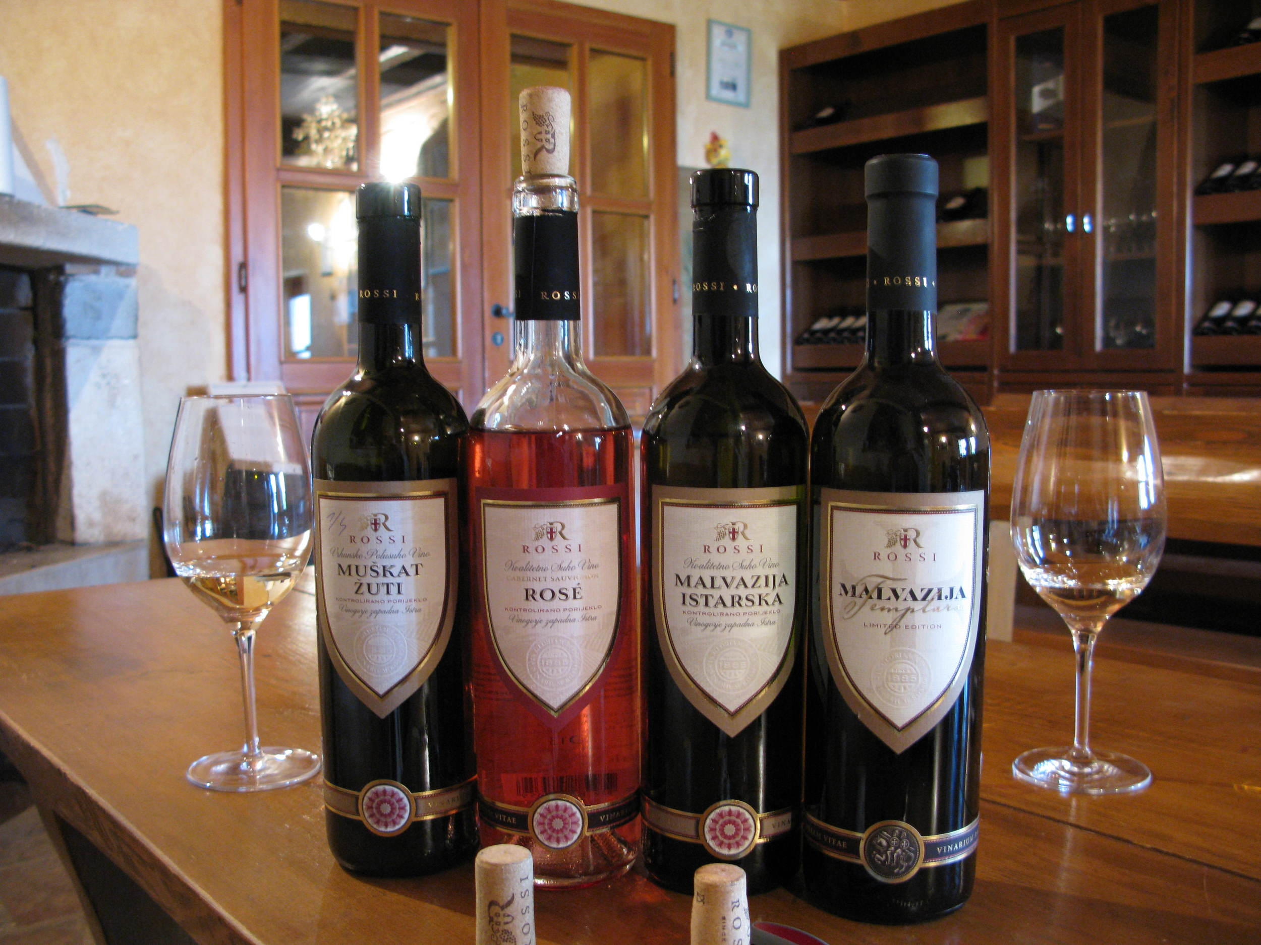 Tasting the Rossi wines