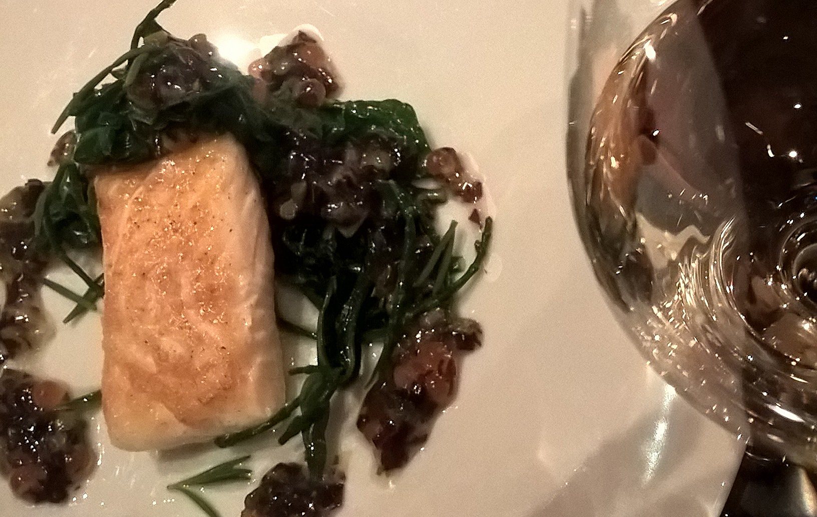 The tasty halibut - but not a lot for £38. This dish was inspired by one from c1830