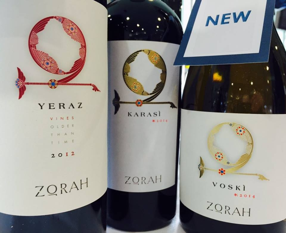 The Zorah range includes two reds made from Areni Noir grapes and a white being launched this spring