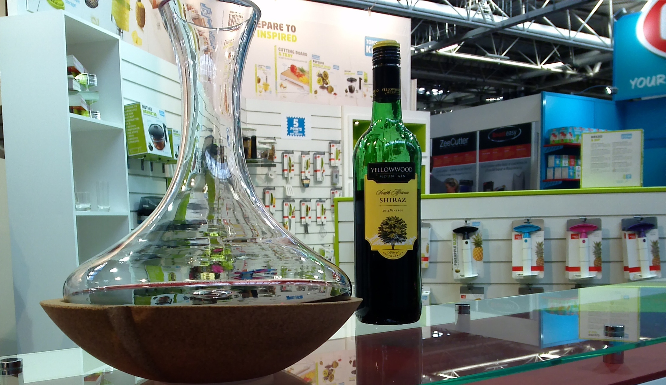 Vacu Vin's Swirling Carafe is a real head-turner. See the video of it spinning below