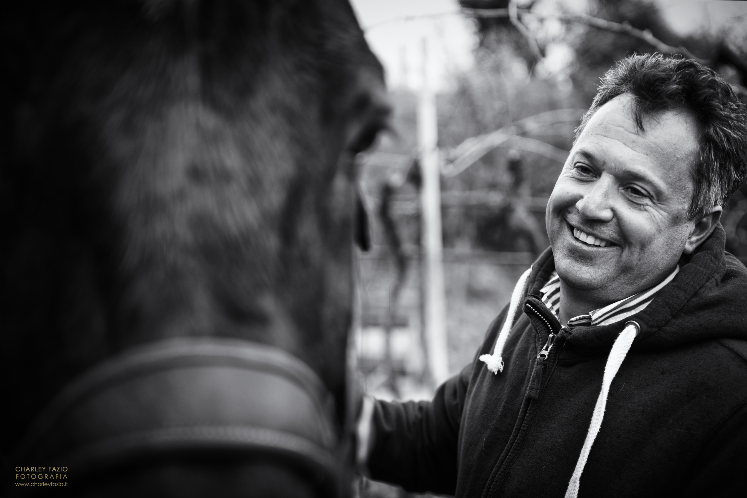 Alberto with one of his beloved horses