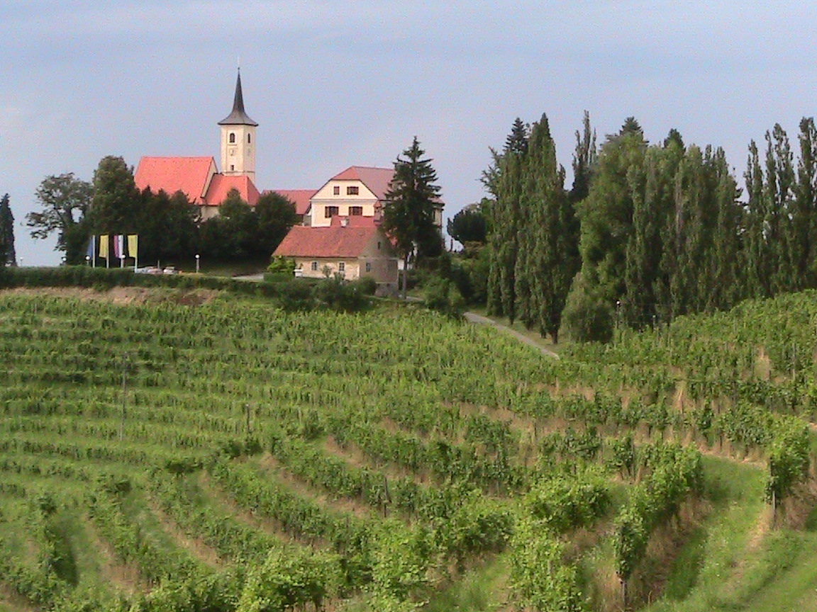 Slovenia's Jeruzalem is surrounded by rolling hills and terraced vineyards. It's recognised as one of the best places to produce all kinds of white wine