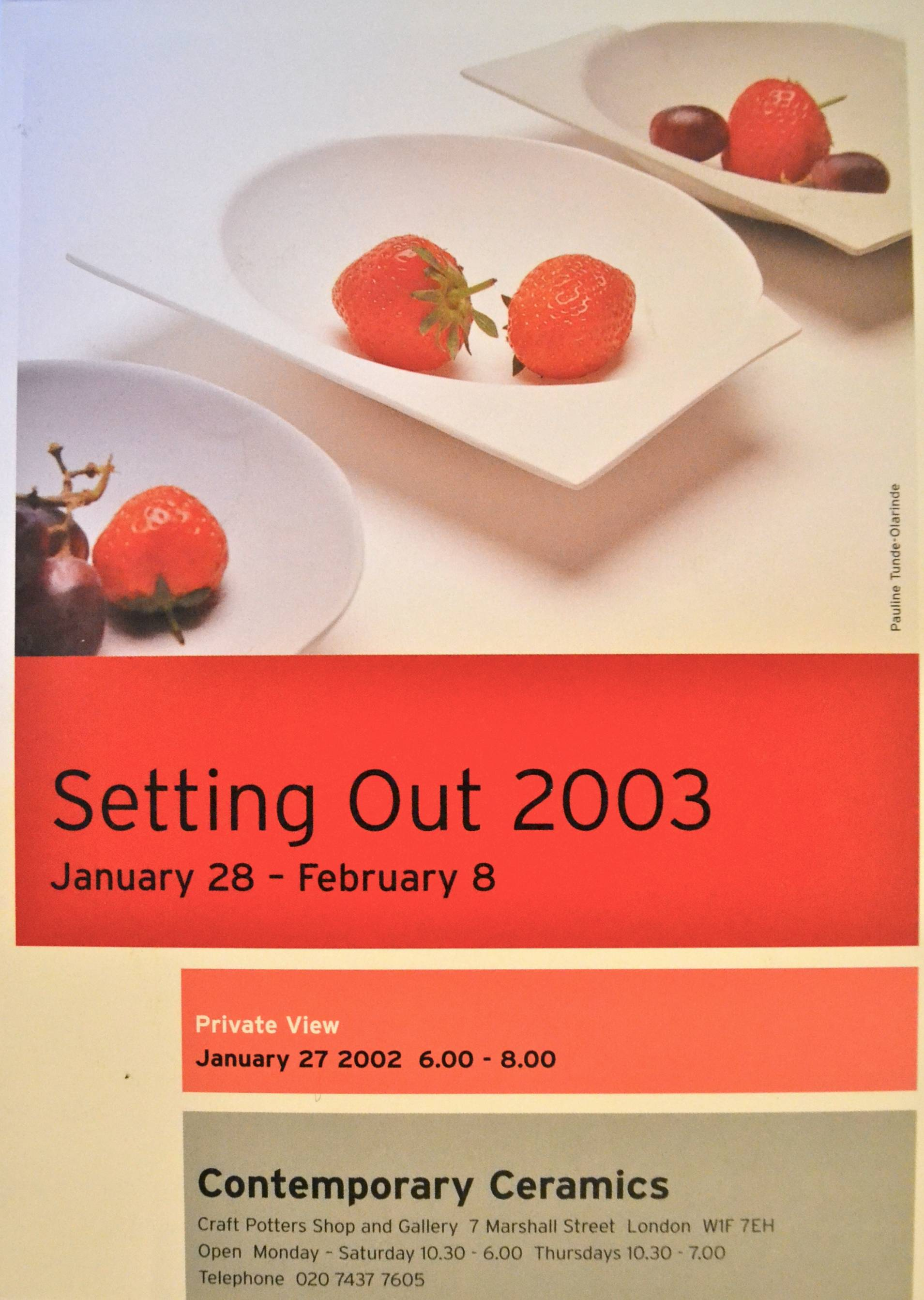 Article 'Setting Out 2003' - Image in Ceramic Review, Issue 199, Jan-Feb 03