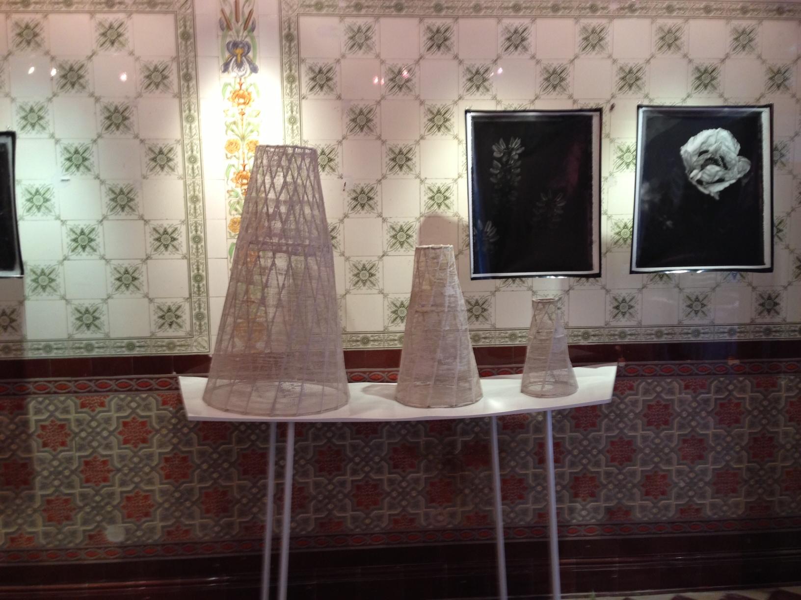 Cones- Steel, Cotton Scrim and Clay. June 2013