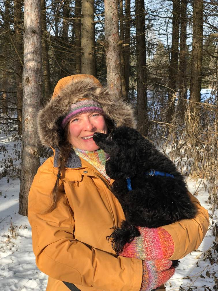My Miniatrue Poodle, Leeloo and I at the Greenwood Conservation Area.