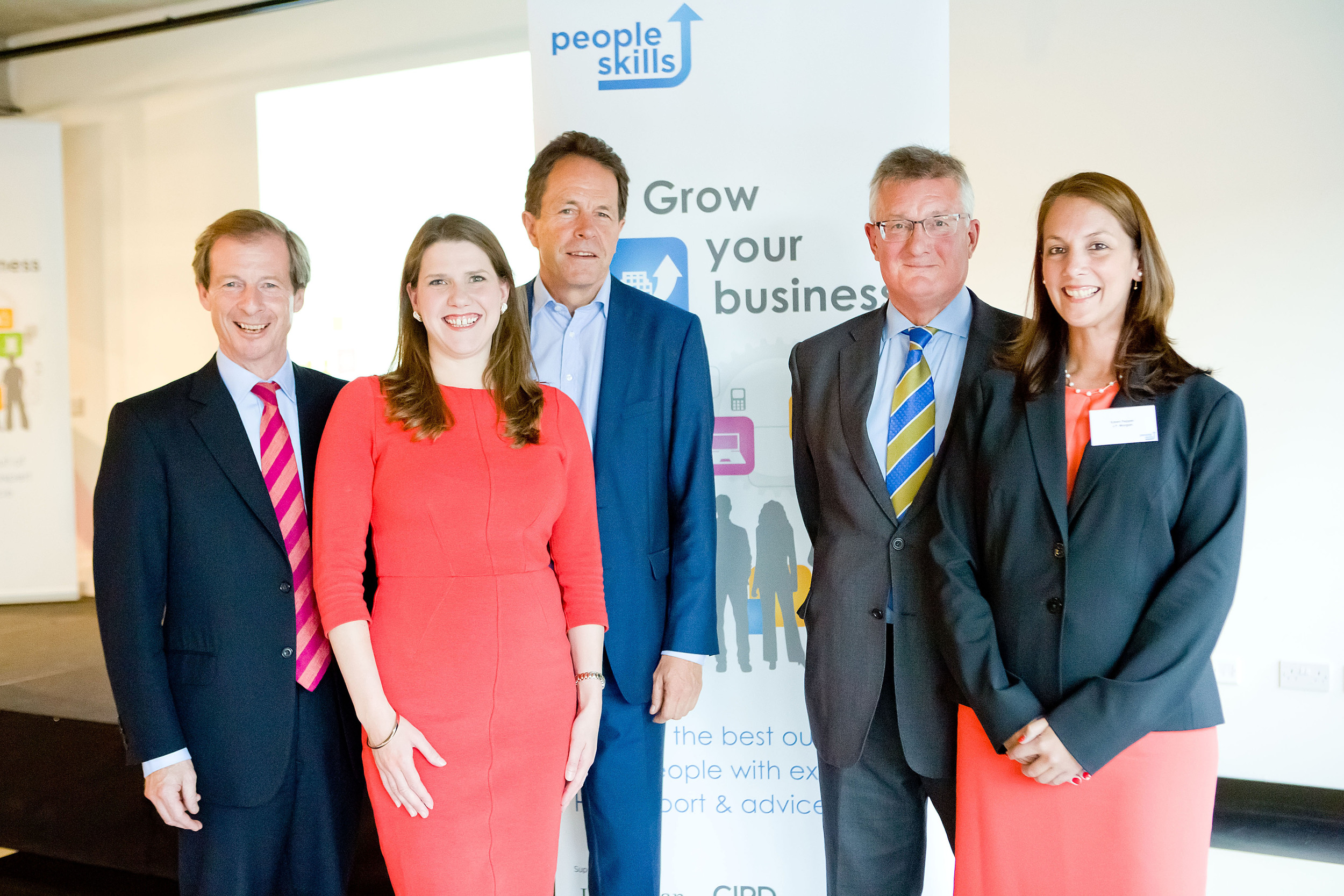 Cllr Guy Nicholson, Jo Swinson, Peter Cheese, David Frost and Karen Pepper