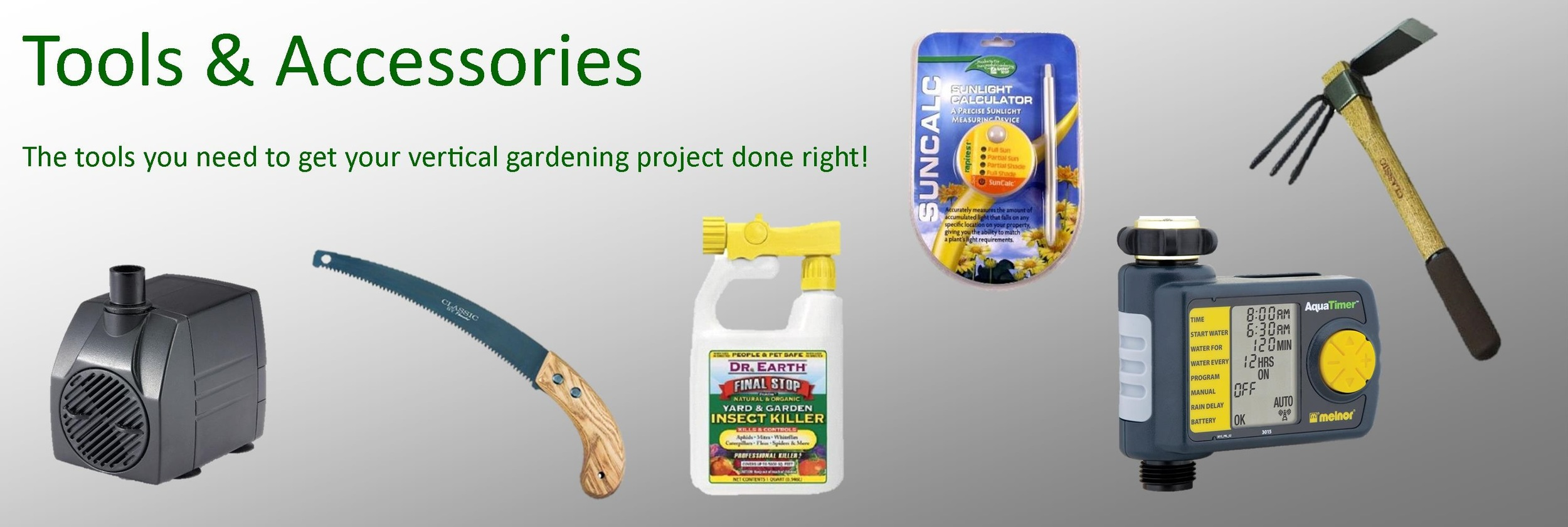 Pest & Disease Control, Hand Tools, Timers, Watering Tools