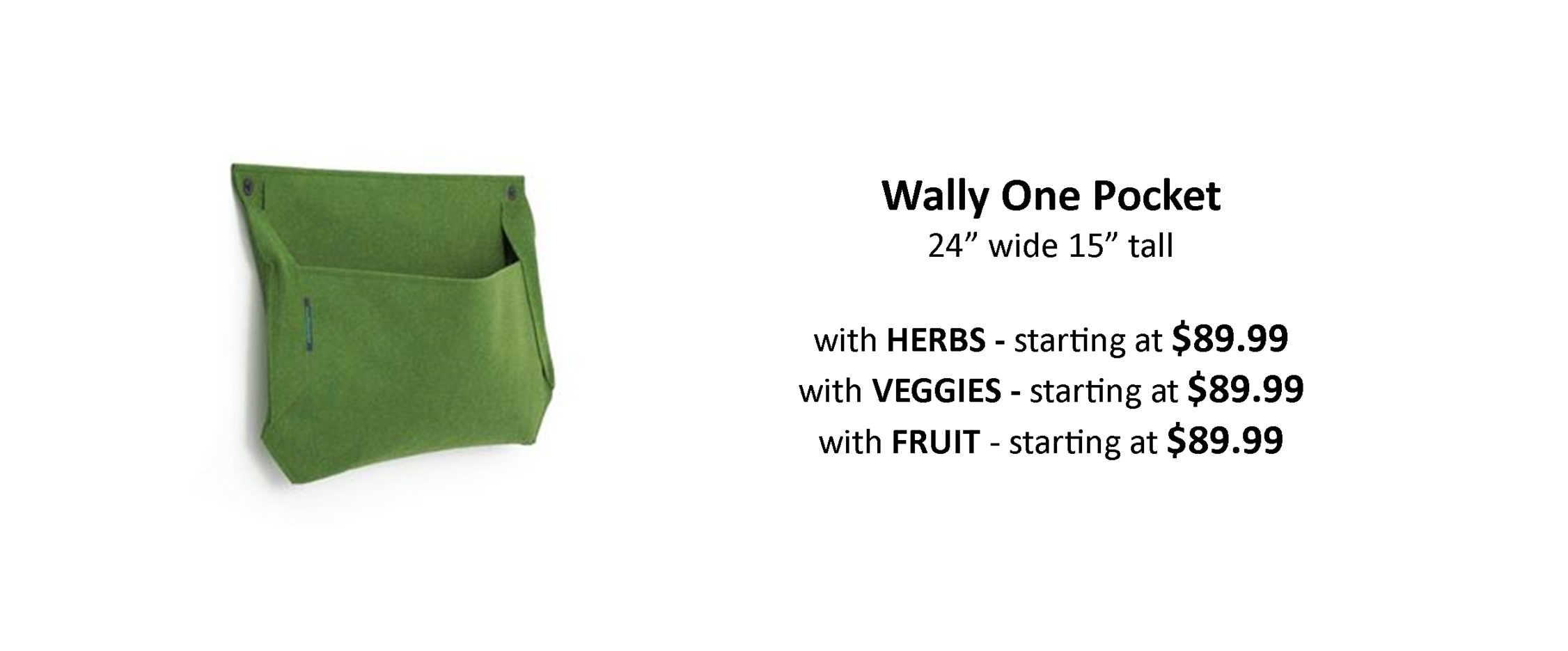Wally One Pocket with Edible Plants