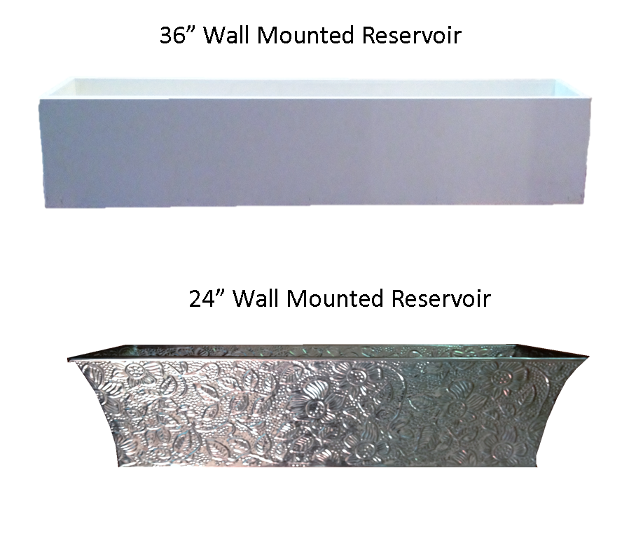Water reservoir or tanks to hold the water for your automatic irrigation system for your living wall