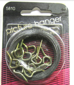 Screw Eye-Hooks and Picture Hanging Wire