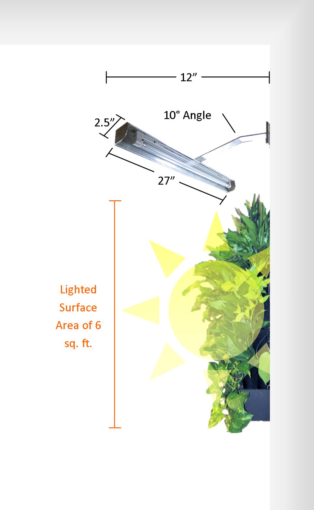 Wall Mounted Grow Light — Edible Walls