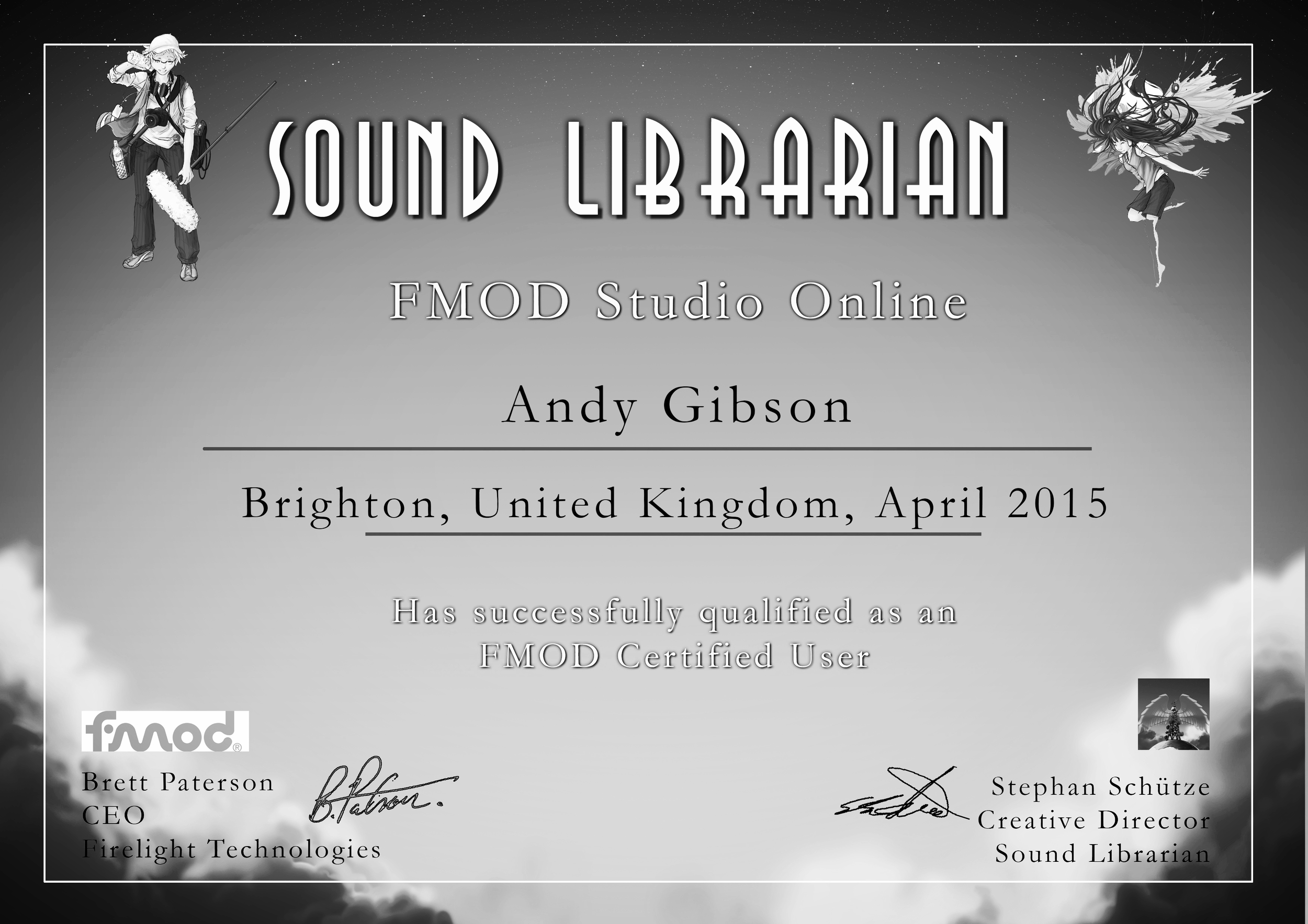 I am an official Fmod Studio certified user.