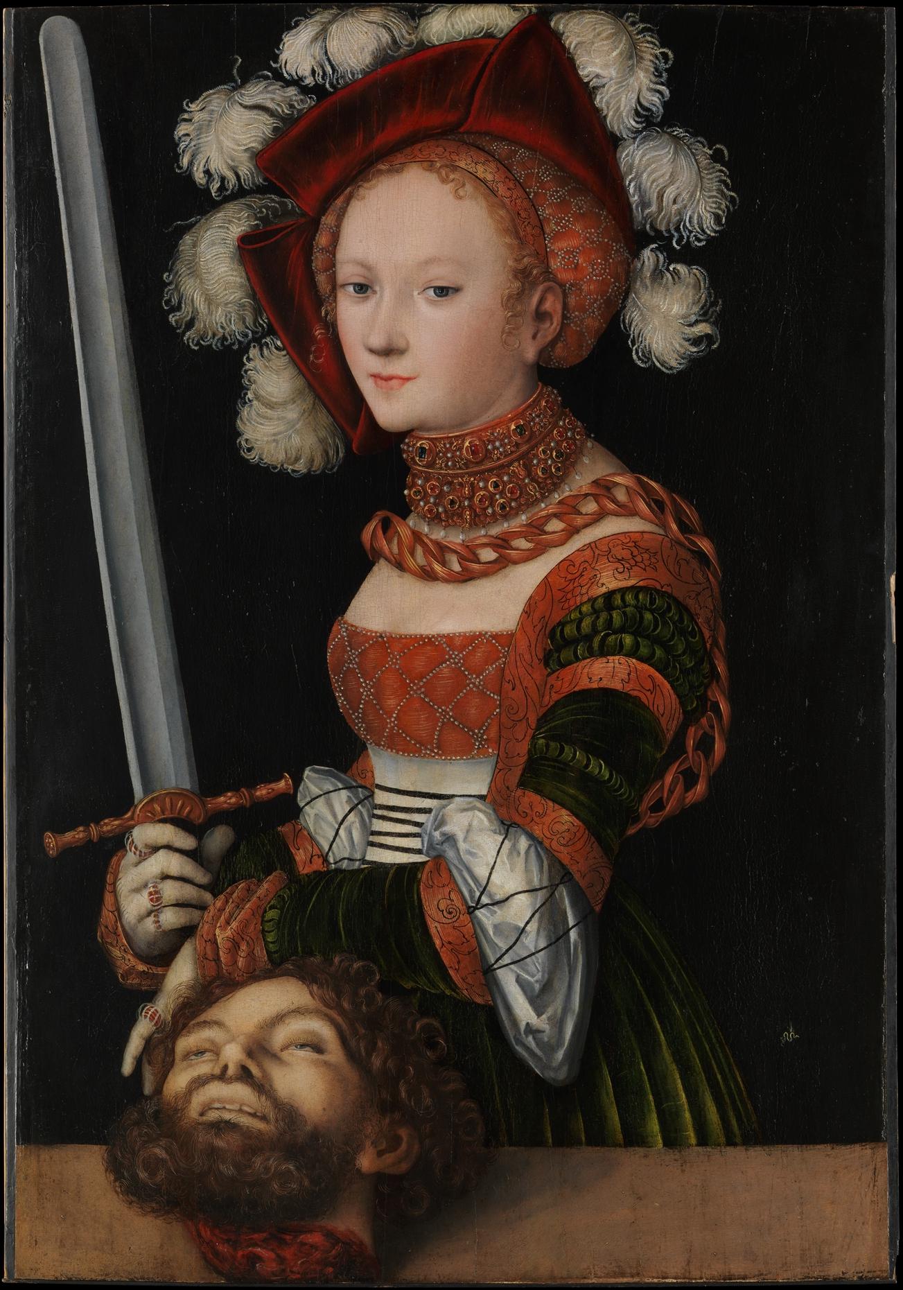Judith with the Head of Holofernes , 1530 Lucas Cranach the Elder (German, Kronach 1472–1553 Weimar) Oil on linden