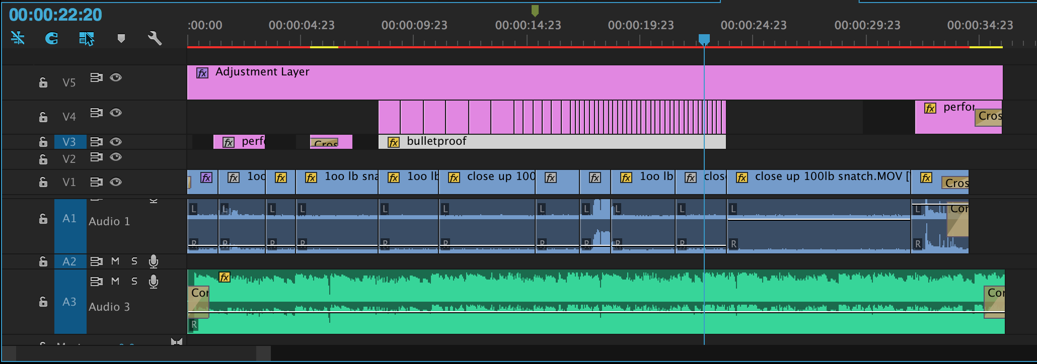 And for the nerds, a quick look at the timeline for that edit.