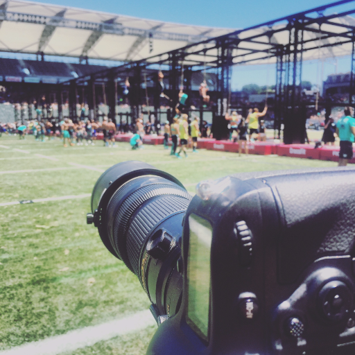 "Shooting with the Nikon 200-400 during the ""climbing worm"" WOD at the 2016 CrossFit Games"