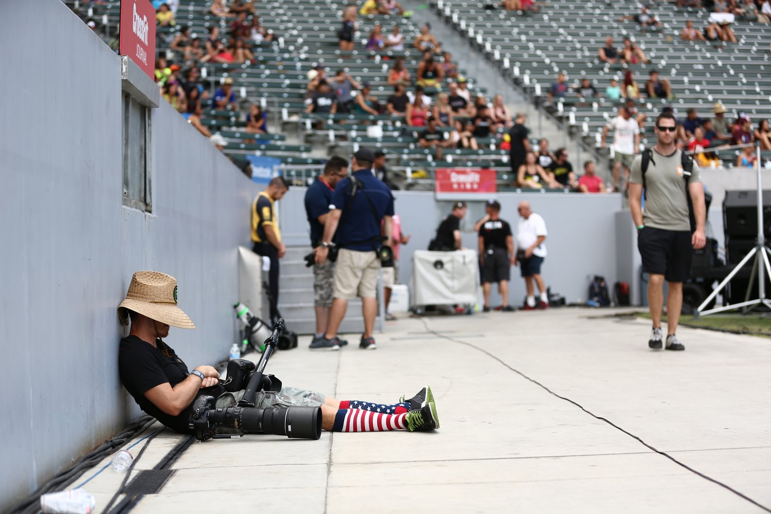 2014 CrossFit Games - I take naps whenever possible.  Always trying to keep the batteries on full.   Copyright CrossFit Inc, 2016, all rights reserved Photo by Tai Randall