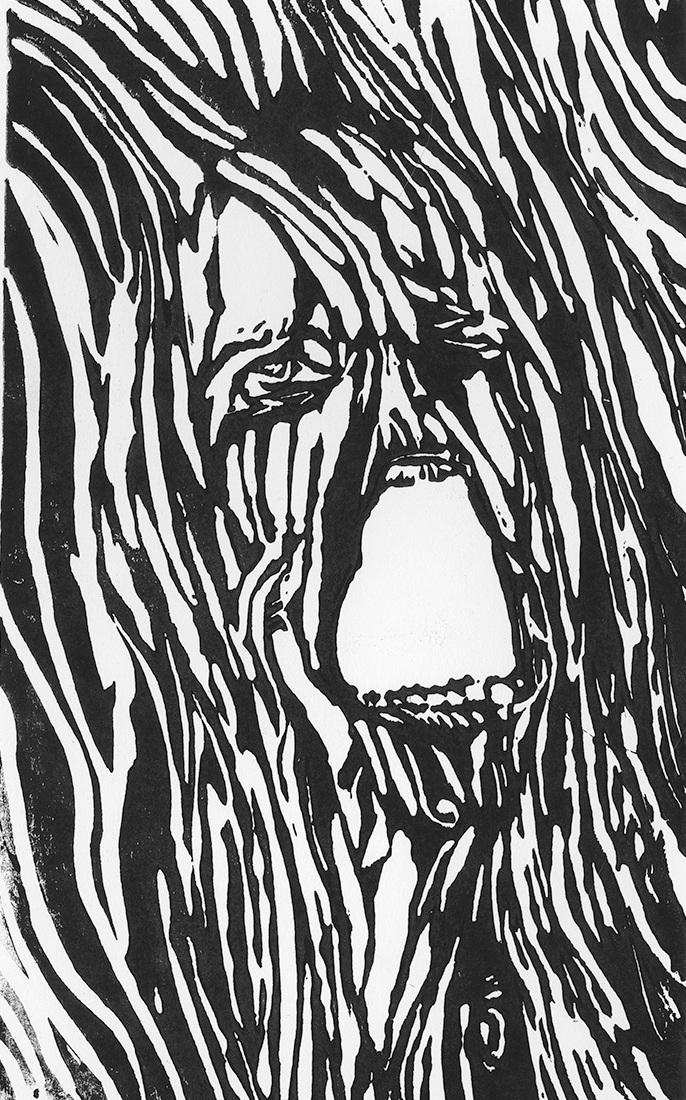Scream   Ben Amos   Relief Print