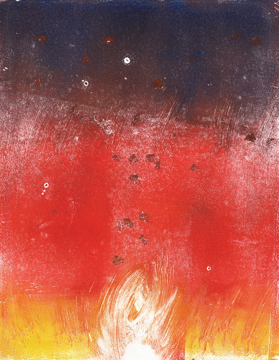 Light and Burn | Krysta Brixey | Monoprints