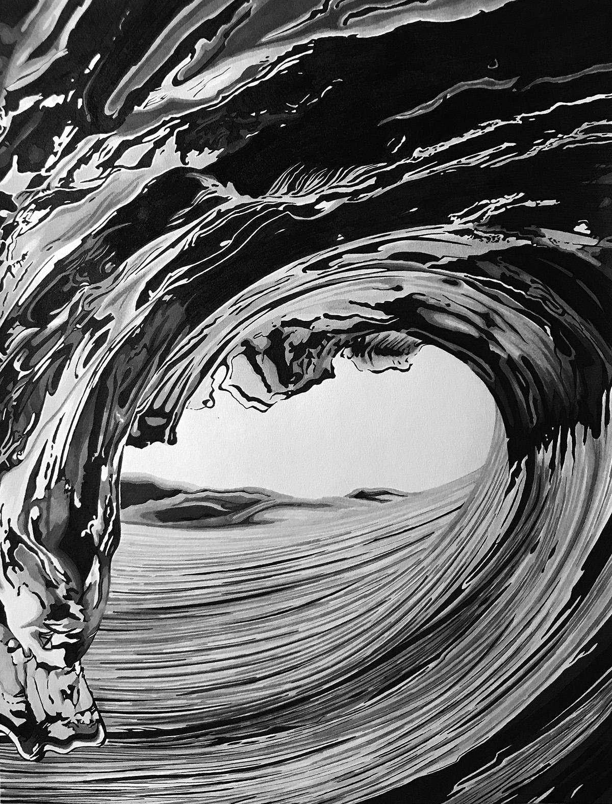 Untamed   Olivia Gagnon   Ink on Paper
