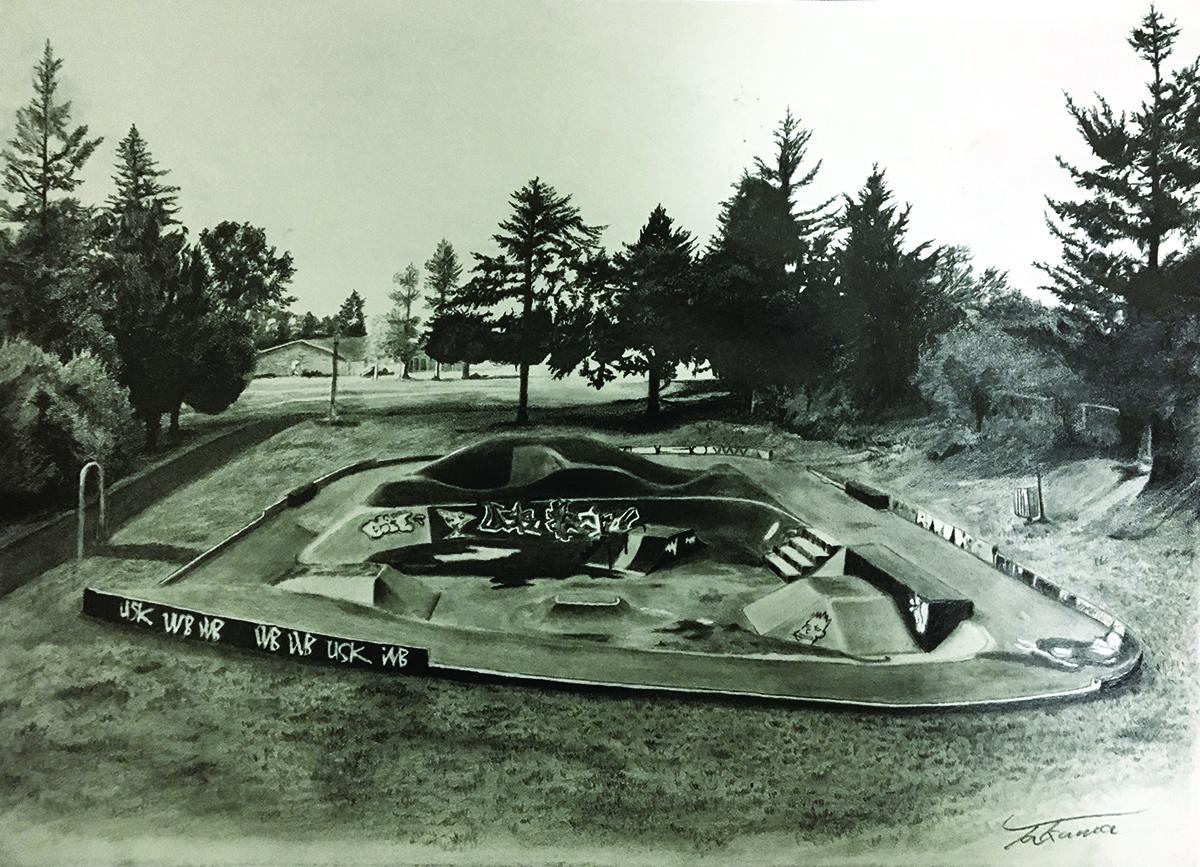 Swift Skatepark   Takuma Ikawa   Graphite on Paper