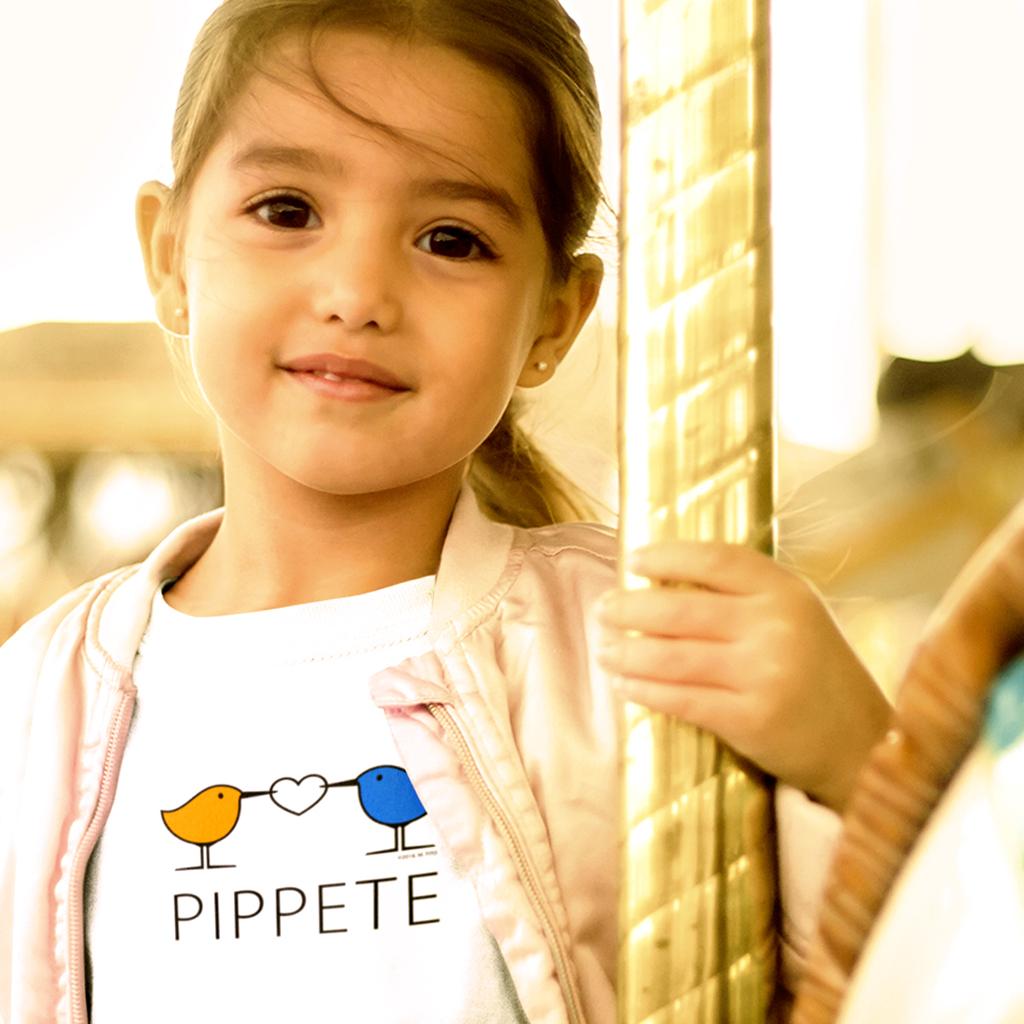 Sanderling Shorebirds . Love Birds . Kids' Jersey T-Shirt by PIPPETE