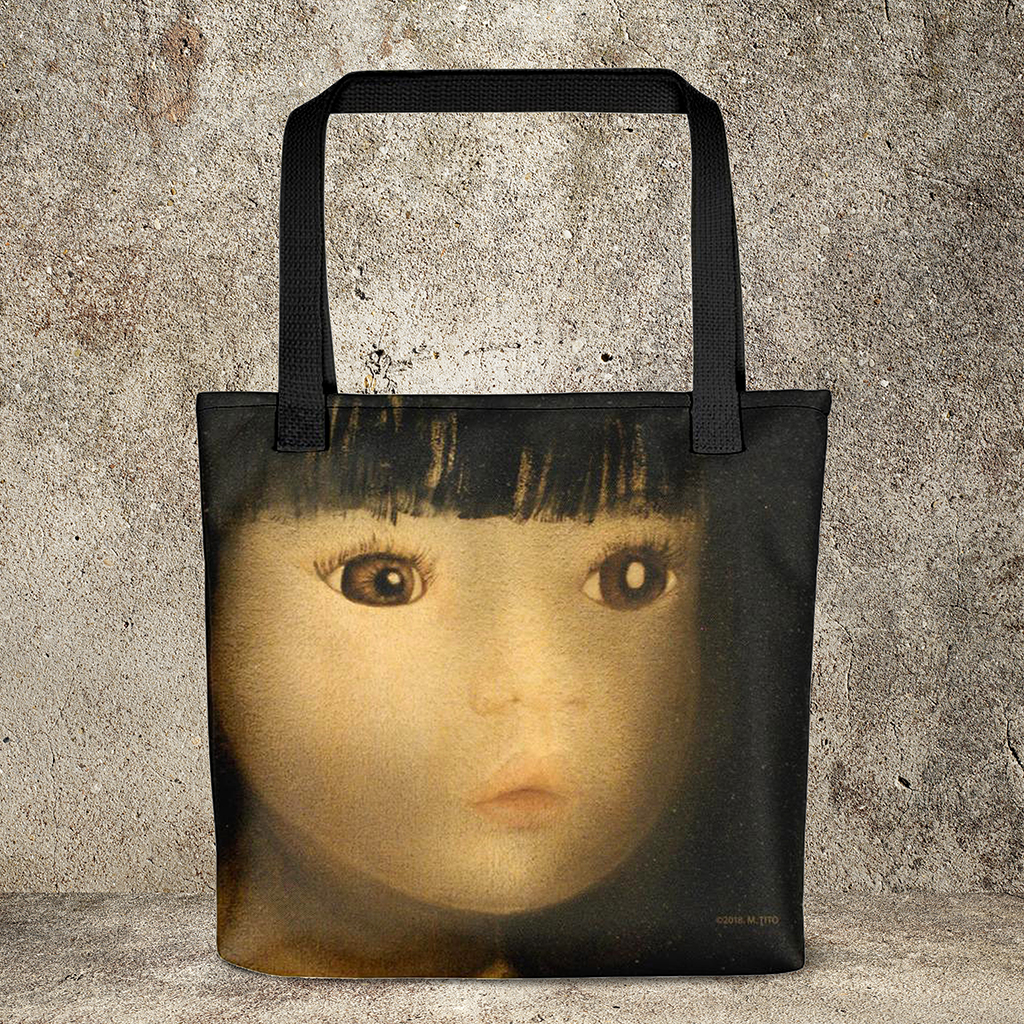 Dolls Oil Painting-Weather-Resistant Tote Bag : MARINA DI META