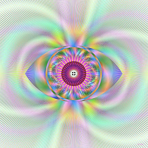 Modern Geometric Optical Illusion Fine Art Print