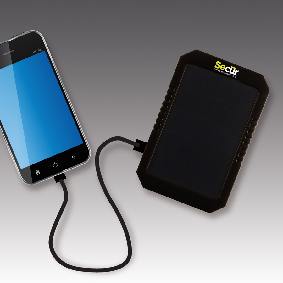 MOBILE CHARGING    Smart phones and digital devices have become the essential ingredients for communications, information, entertainment and safety.  Secur offers a complete range of solar chargers and multi-function power banks. Perfect for outdoor adventures or everyday use, these versatile power banks give you the power you need wherever your travels may lead.