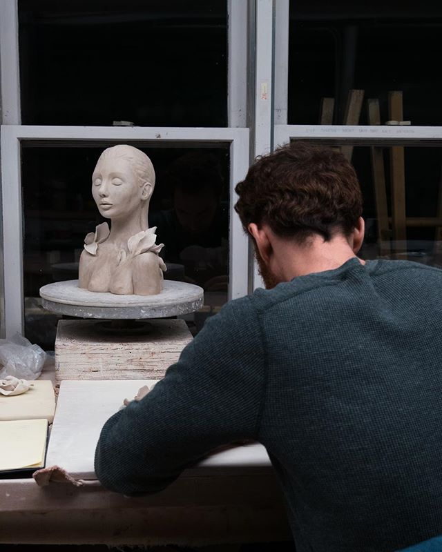 Back to when I was working late at Penland . . #art #clay #artwork #penland #sculpture #studio