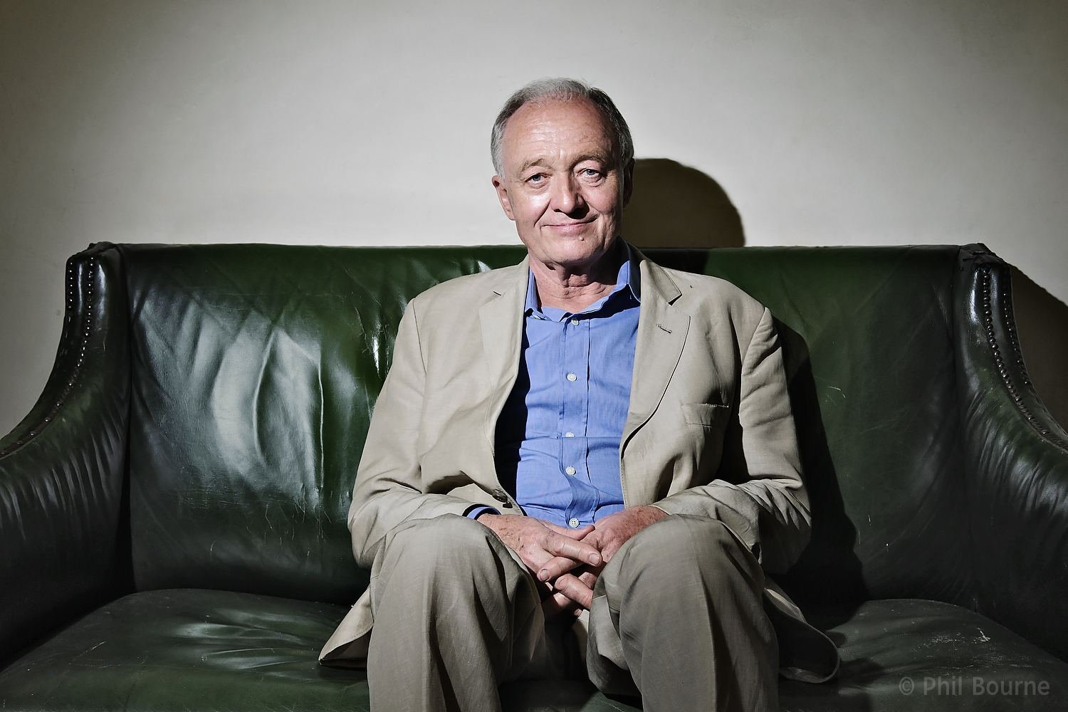 Portrait of Labour MP and former Mayor of London Ken Livingstone, taken backstage at Stand Up For Labour comedy night on the 22nd July 2012. Picture by Phil Bourne