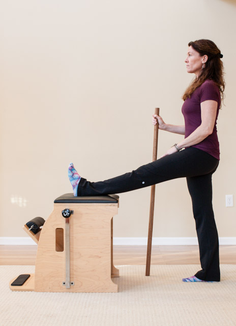 step two with a chair