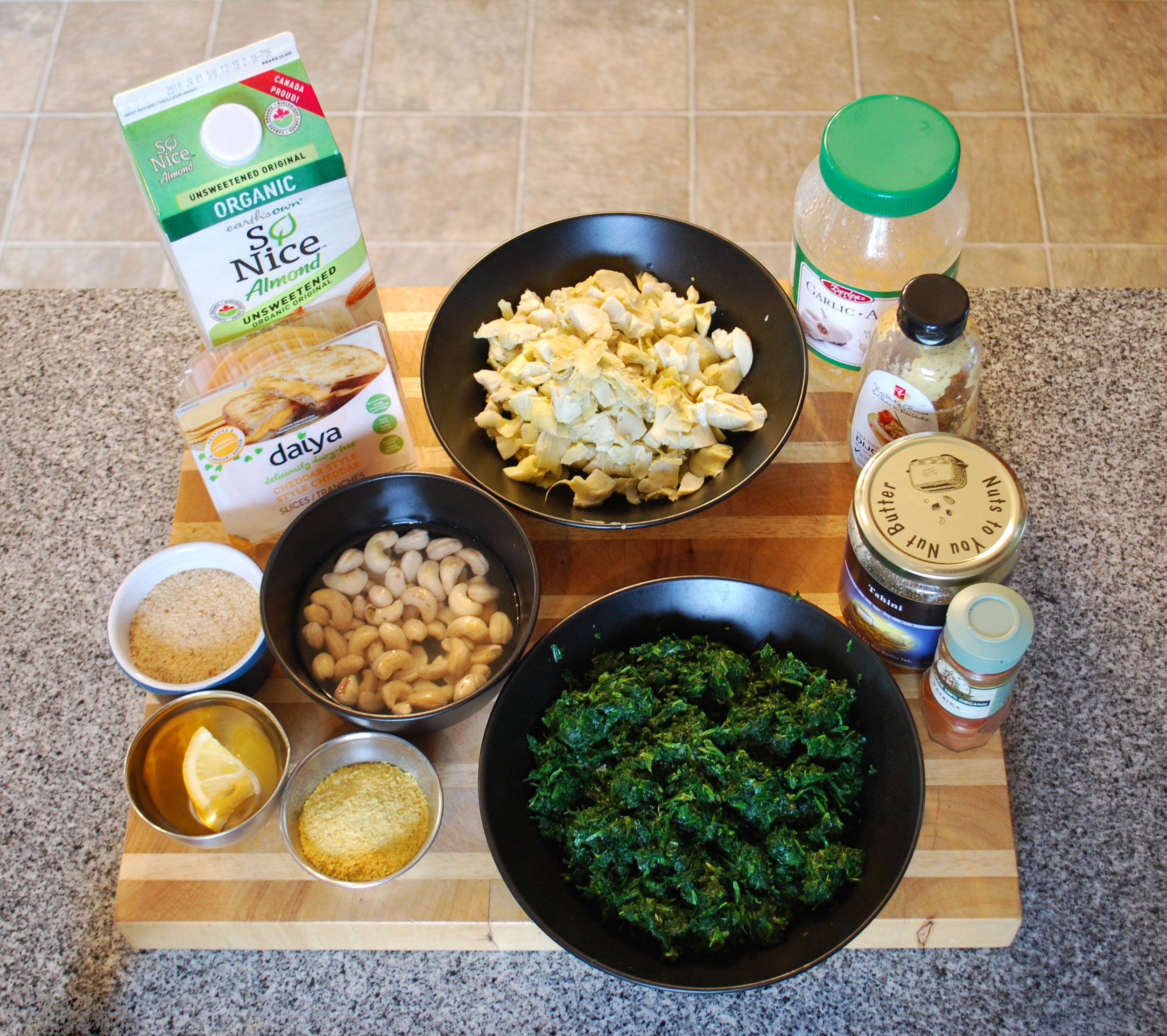 Artichoke and Spinach Dip ingredients