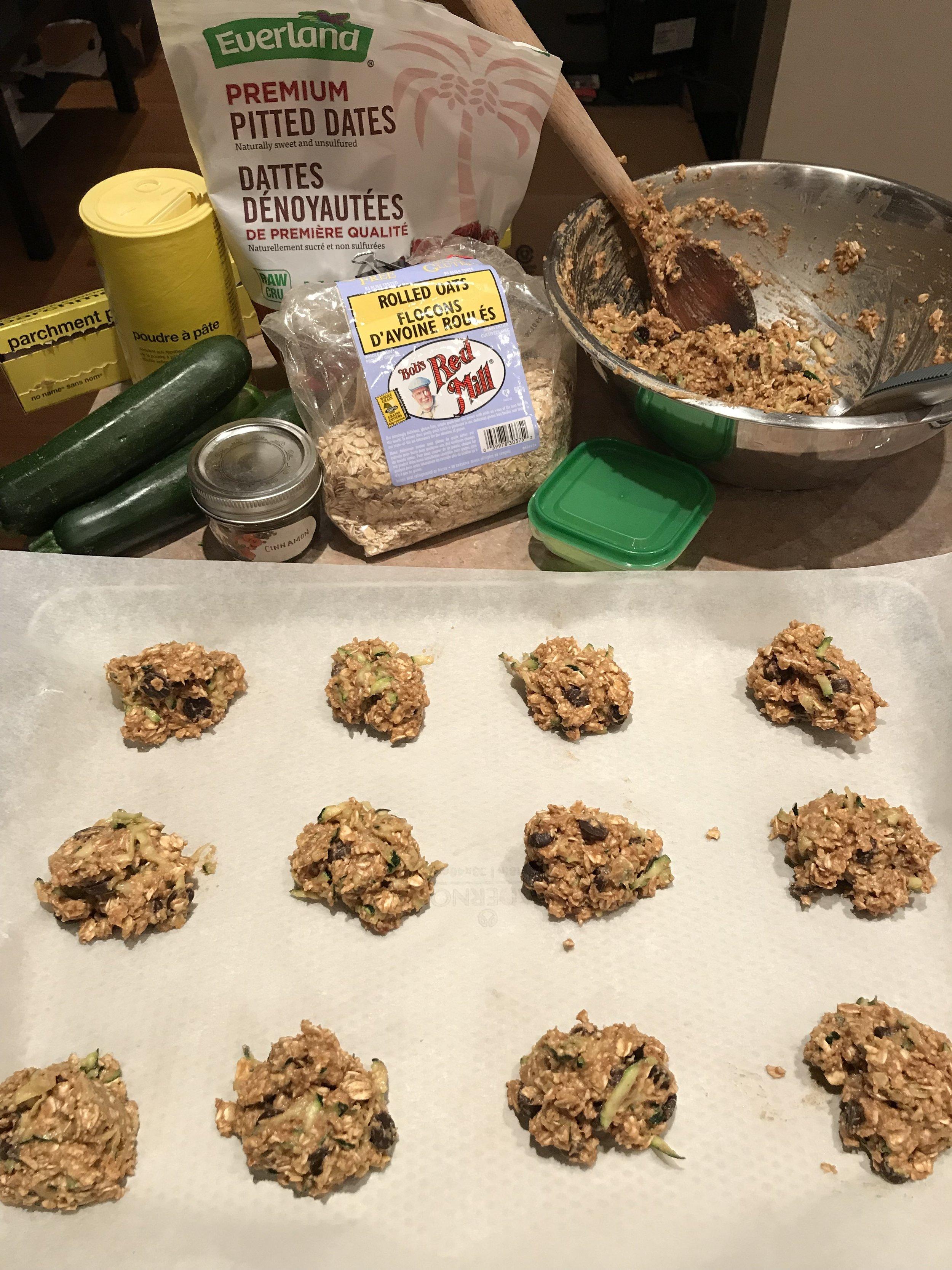 Zucchini Bread Muffin Tops ingredients