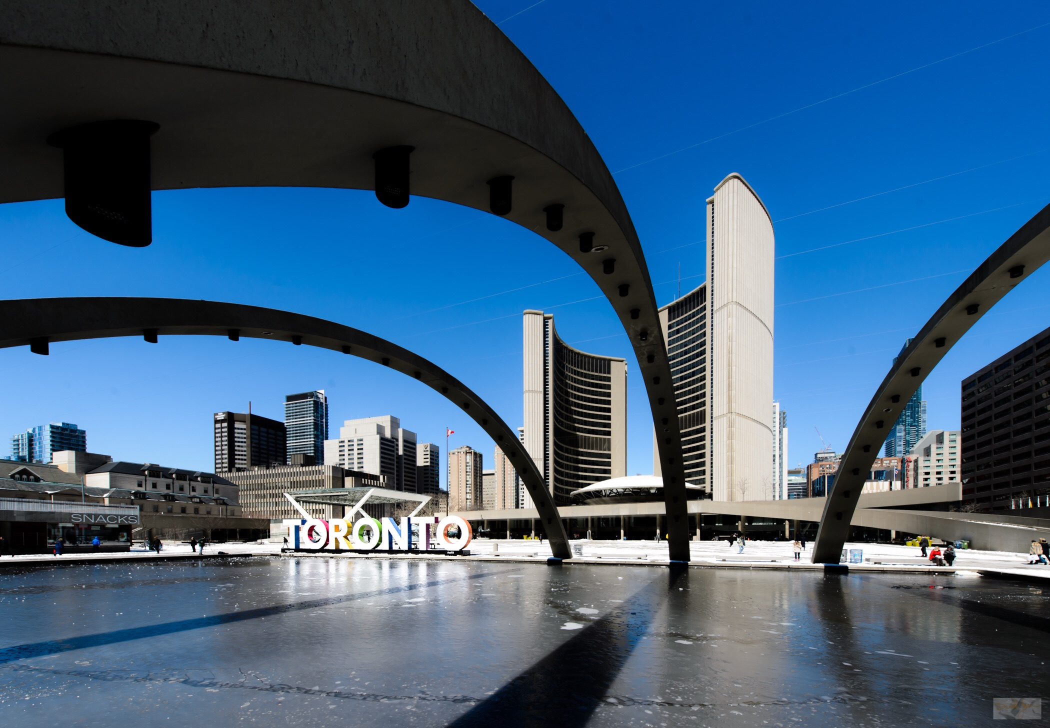 The Toronto sign in front of City Hall