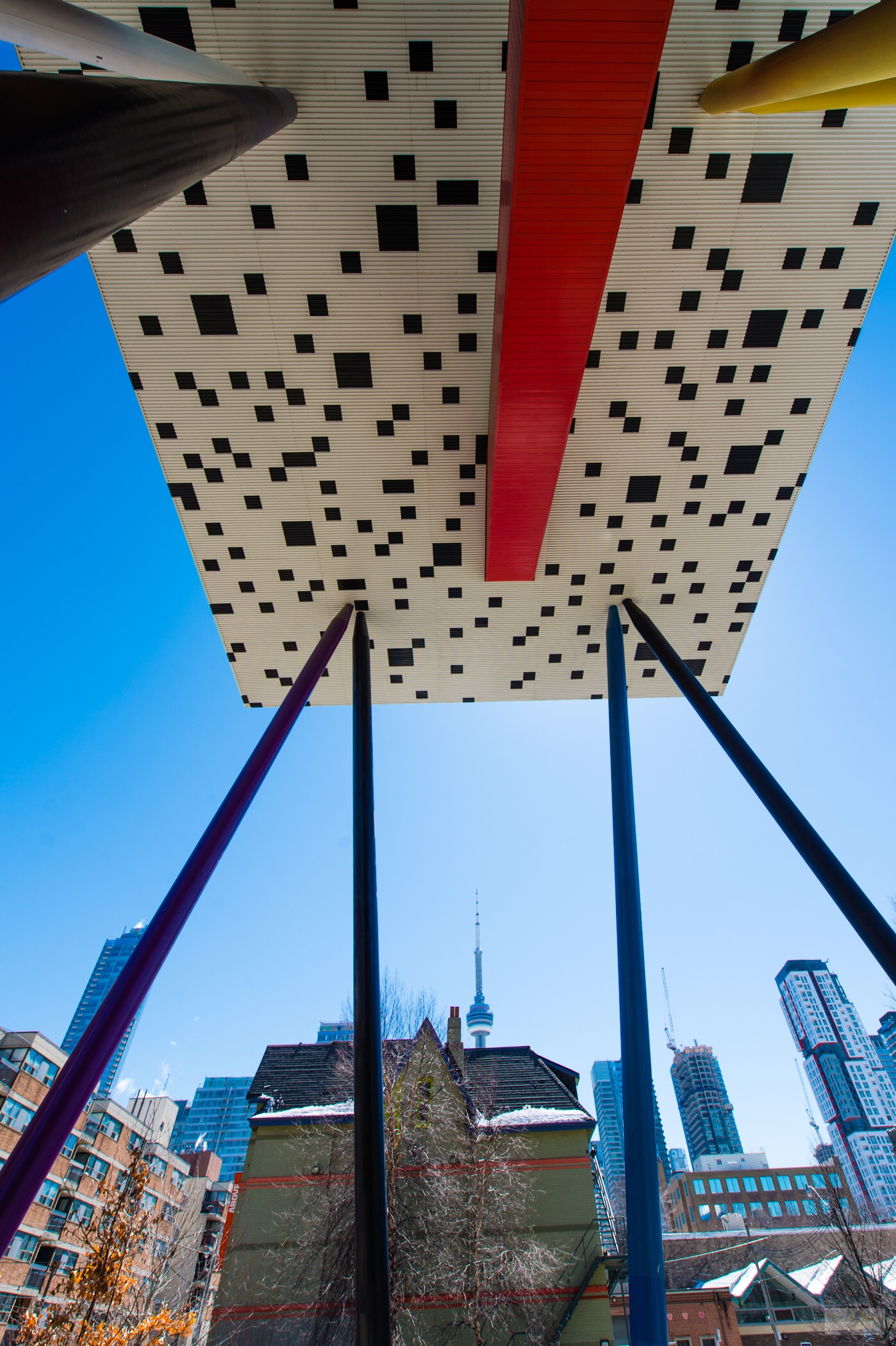 OCAD U belly with CN Tower