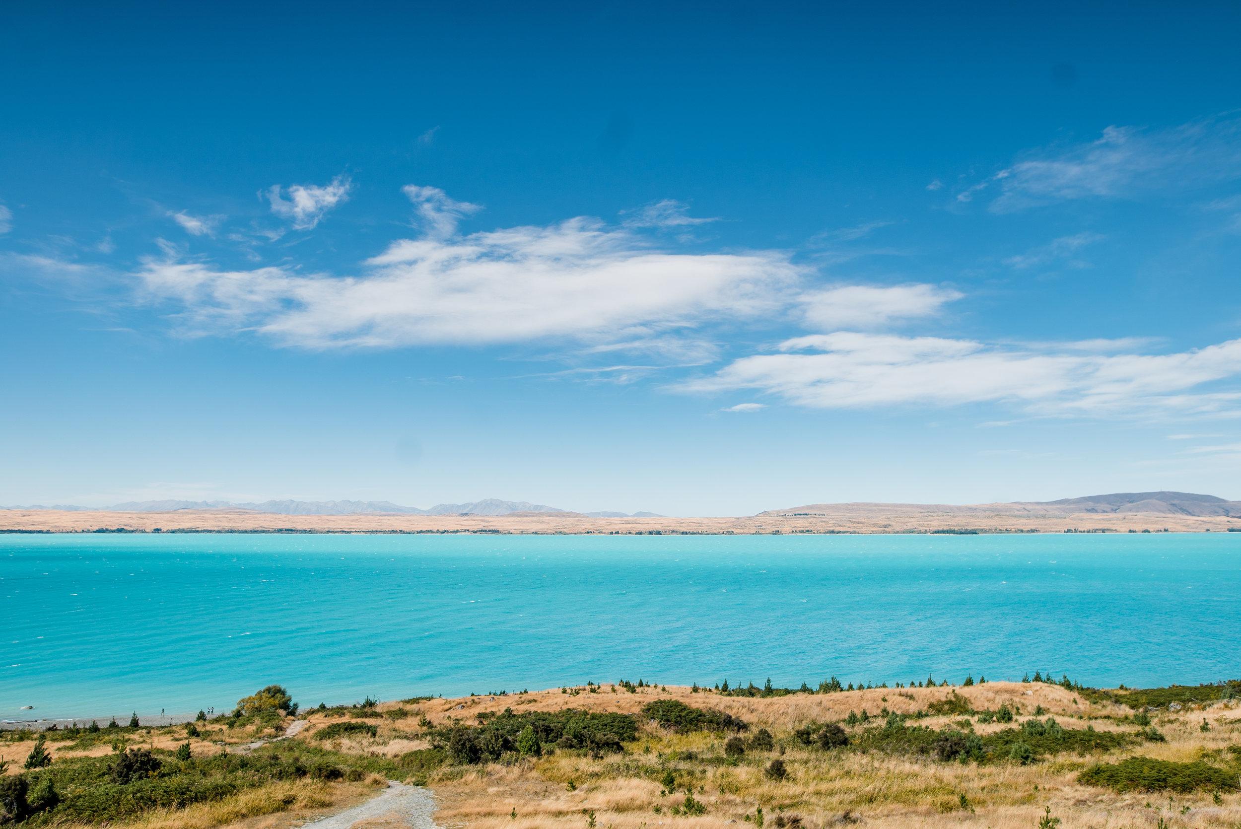 """Lake Pukaki could be alternately titled """"The Gatorade Lake"""""""
