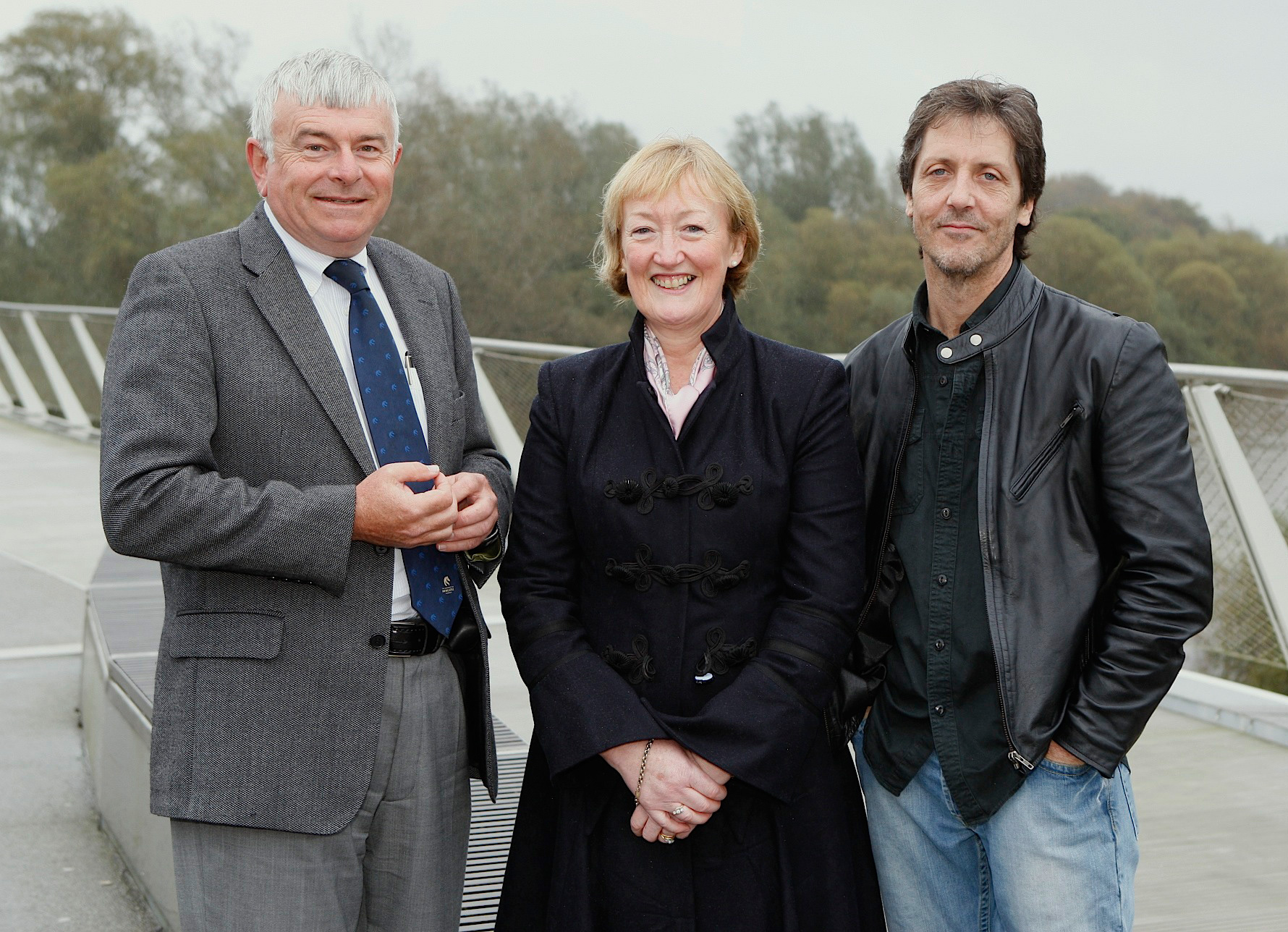 (left to right) University of Limerick Professor Paul Finucane, MD, Eithne Boyan, Managing Director, Lundbeck Ireland, Daniel Duffy, Fellow in the Humanities recipient