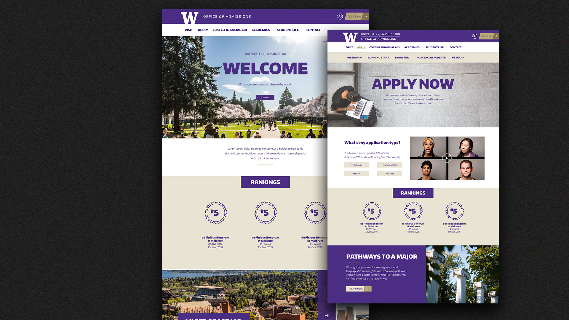 Solutions for Undergrads - Admitting UW's largest freshmen class is 157 years.